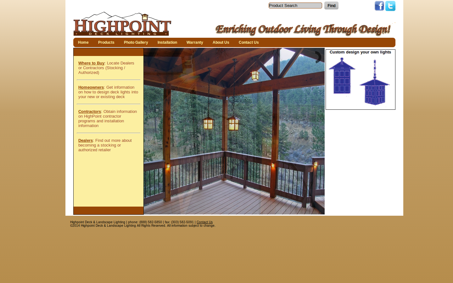 Highpoint deck lighting uses the best metals; brass copper stainless steel and aluminum to create beautiful lights that enhance the outdoor living areas ... & Deck Lighting and Accessories | Home Lumber Company