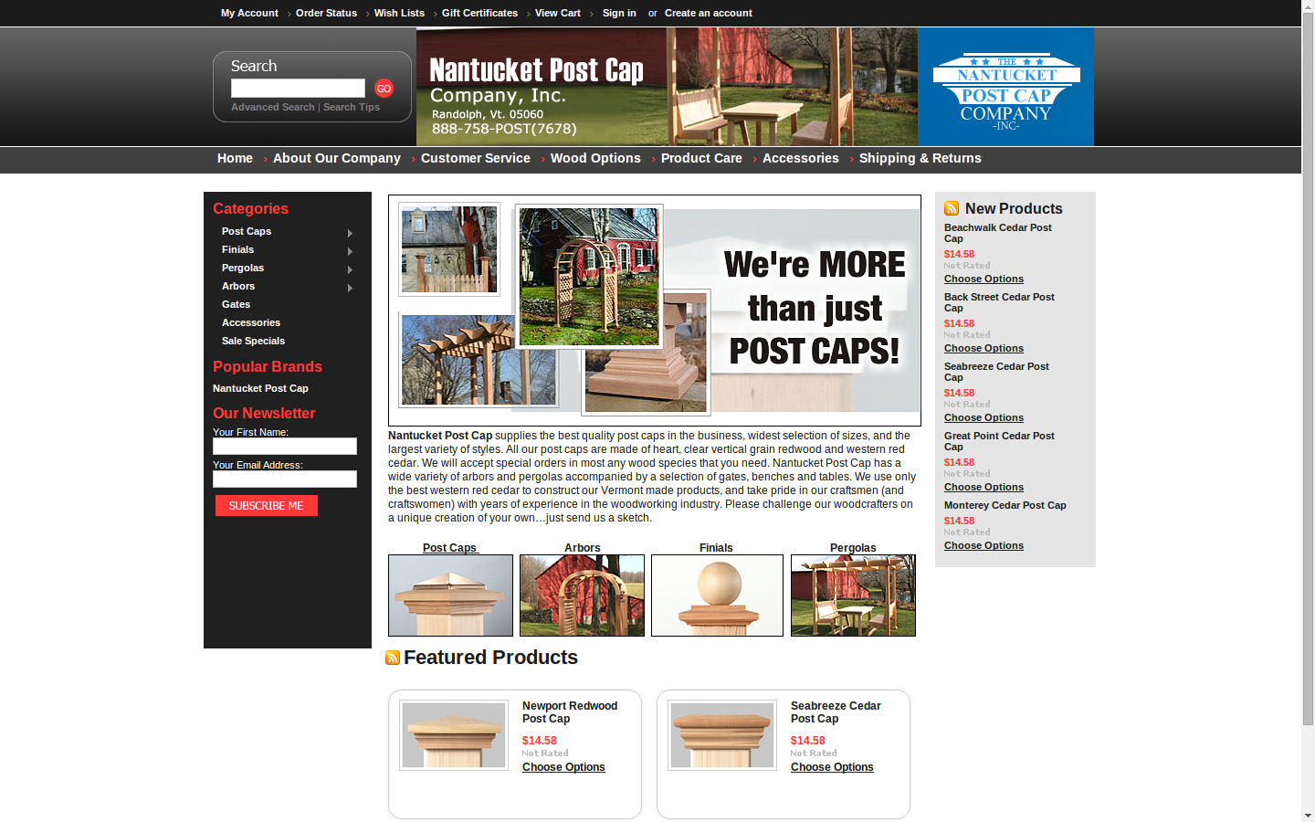Nantucket Post Cap Supplies The Best Quality Caps In Business Widest Selection Of Sizes And Largest Variety Styles
